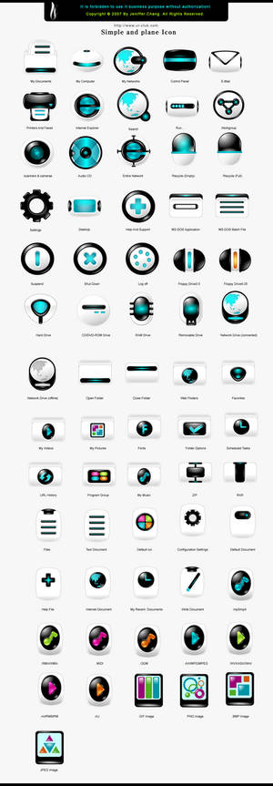 Simple and plane icons