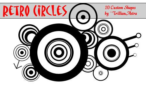 Retro Circles - Custom Shapes by TrillianAstra