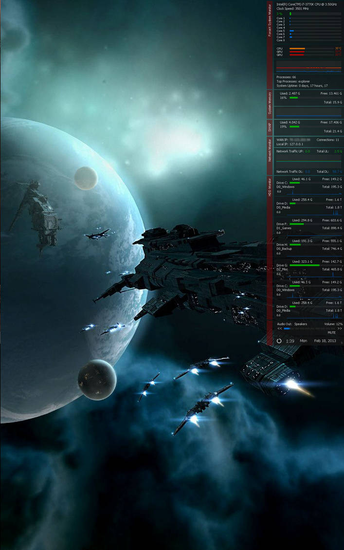 ForceX System Monitor V3.0.6 (Feb-20-2013) by ForceX34