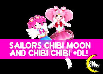 [MMD] Chibi Moon and Chibi Chibi +DL! by vtrevisan
