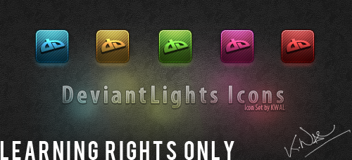 Deviant Lights icons .PSD by VA-Valor