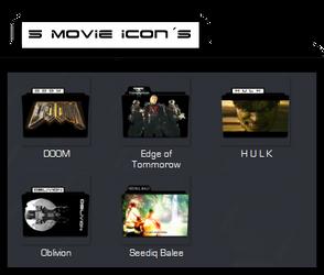 5 Movie Icons by Hakasuke