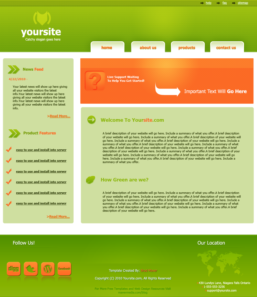 FREE TEMPLATE Green Style by mavermedia