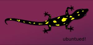 Ubuntu 13.10 Saucy Salamander logo. Proposal.