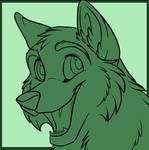 Cartoon Wolf Cub Icon PSD