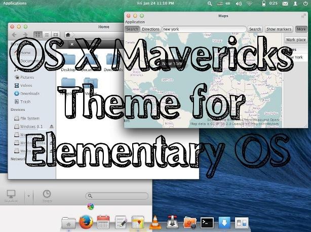Mavericks Elementary theme (theme+plank+cursors) by paladin324