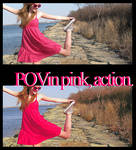 +Point of view in pink, action