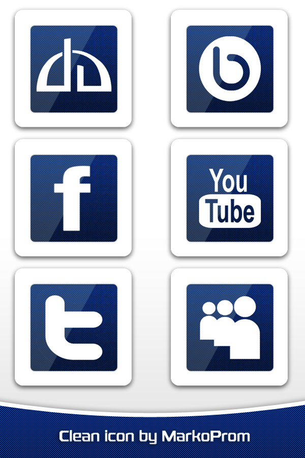 Clean Social Icons v.1 Designed by MarkoProm Desig