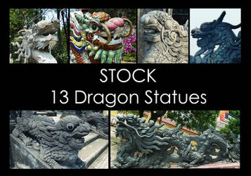 Dragon Statues STOCK PACK by LeeStock