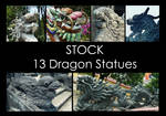 Dragon Statues STOCK PACK