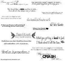 Random Lyrics Brushes