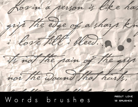 Words Brushes by bum23