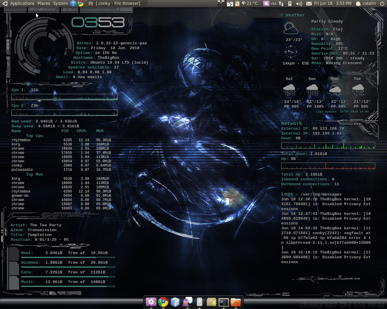 Conky empowered desktop