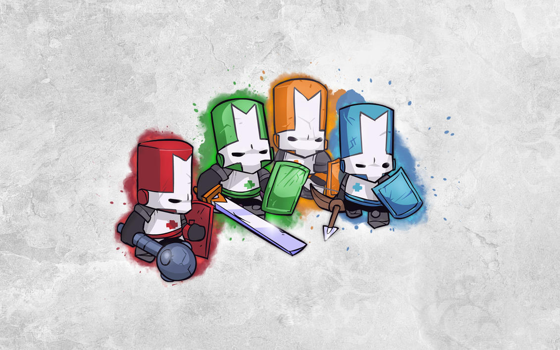 Castle crashers splatter by Xfirus