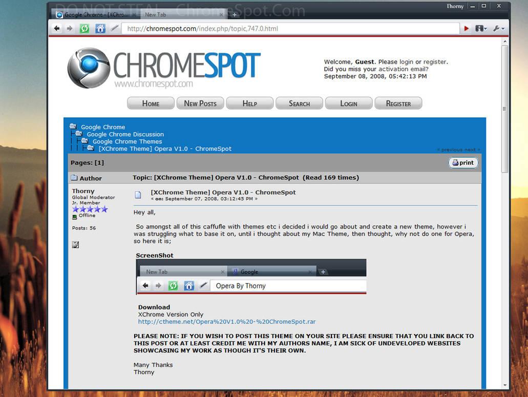 Chrome - OperaV1 - ChromeSpot by Thorny23 on DeviantArt