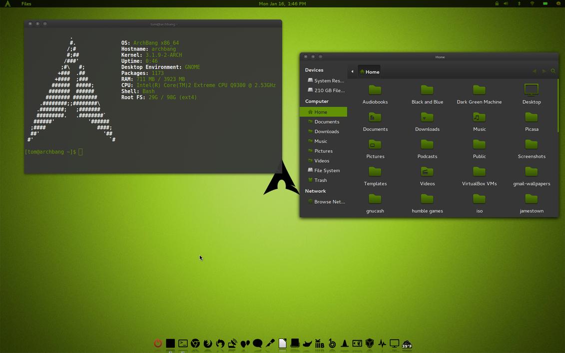 Dark Green Machine GTK v1 by CraazyT