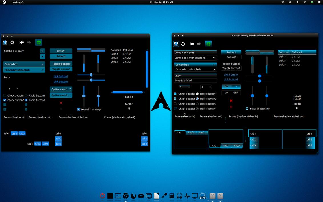 Black-n-Blue-GTK v3 New by CraazyT
