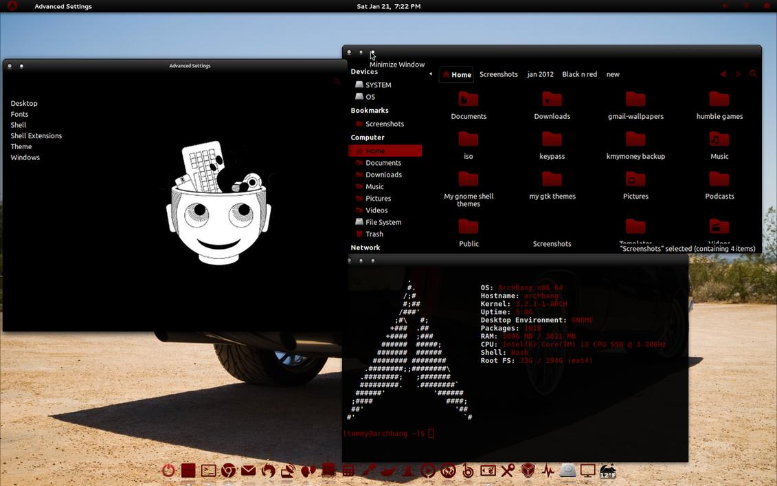 Black n Red GTK Theme by CraazyT