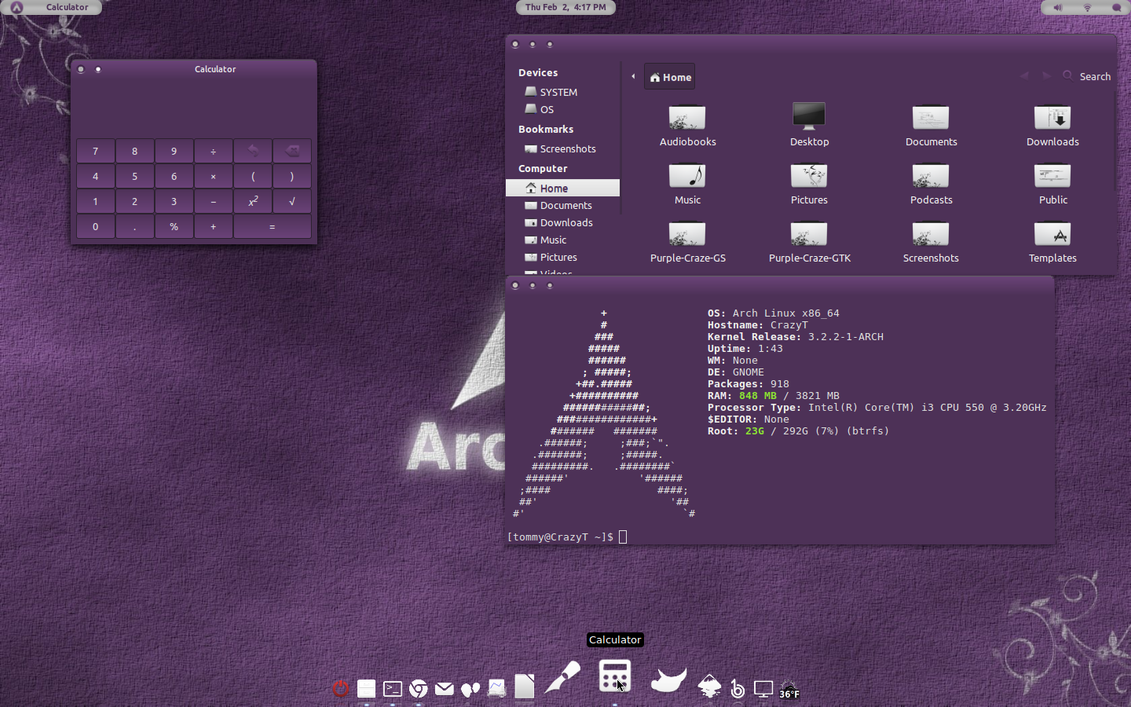 Purple-Craze GTK Theme v1 by CraazyT
