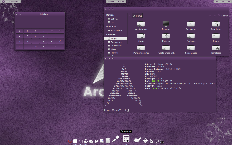 Purple-Craze GTK Theme v1 by CraazyT