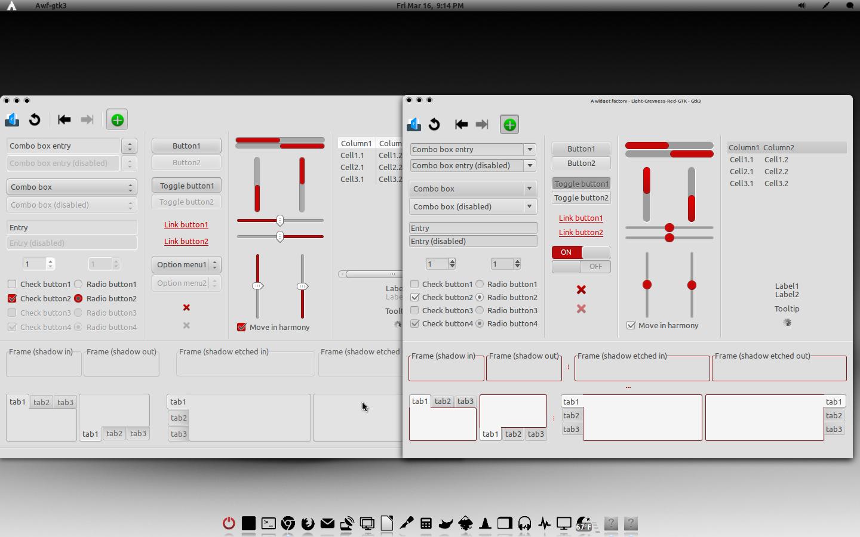 Light-Greyness-Red-GTK Theme V1.1 by CraazyT