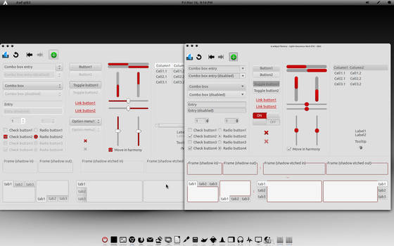 Light-Greyness-Red-GTK Theme V1.1