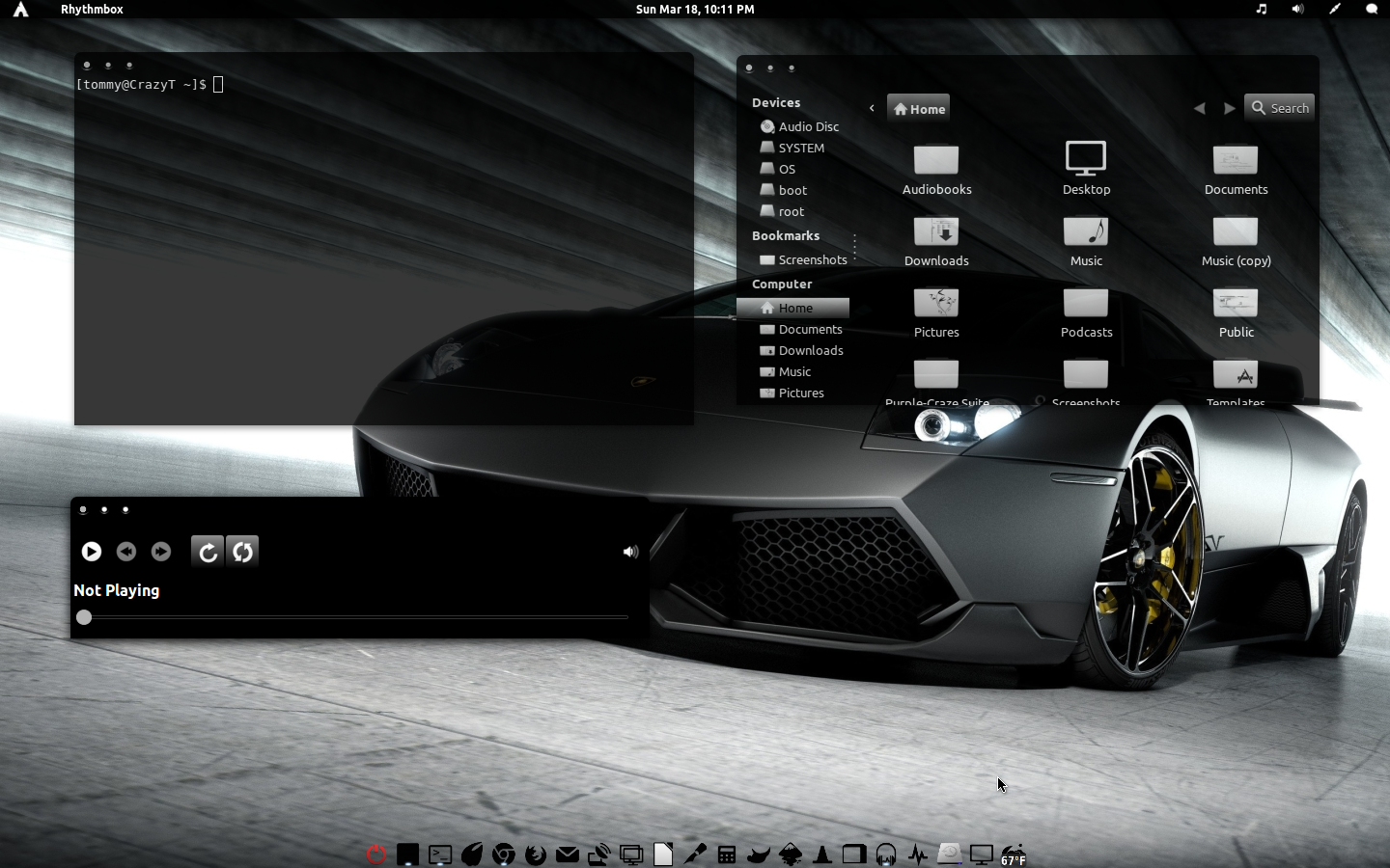 Black-Out-GTK Theme v1 by CraazyT