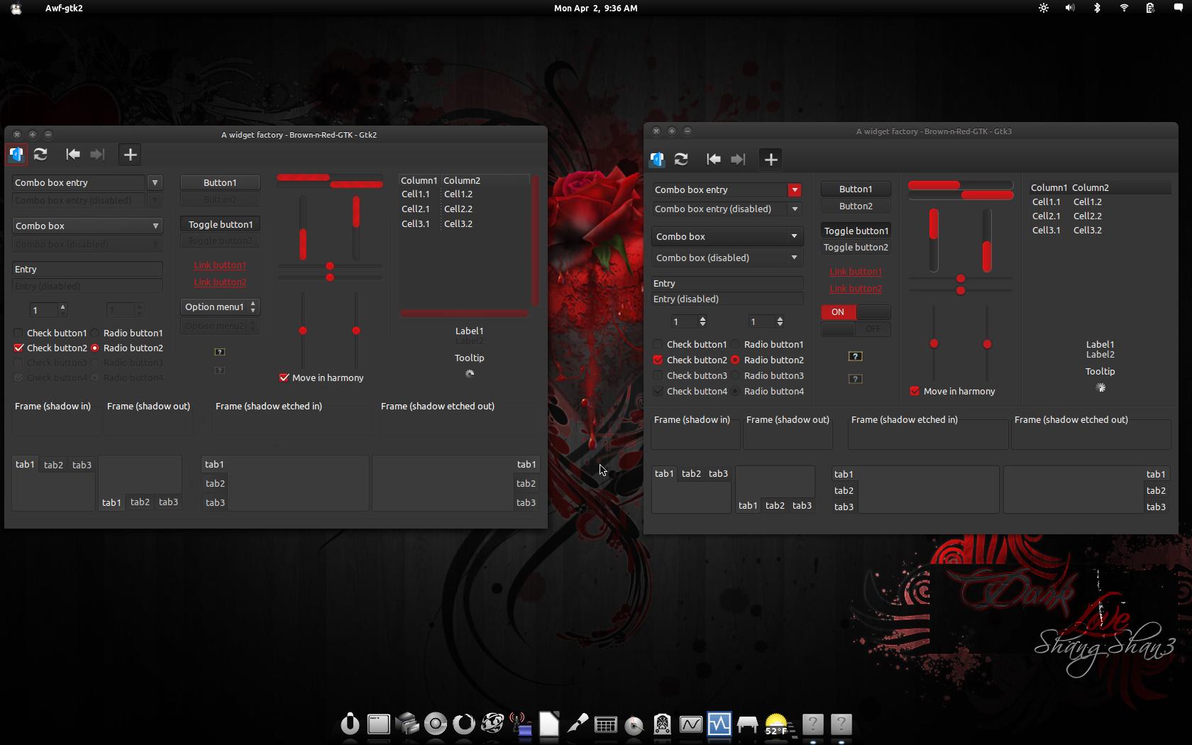 Dark Grey-n-Red-GTK by CraazyT
