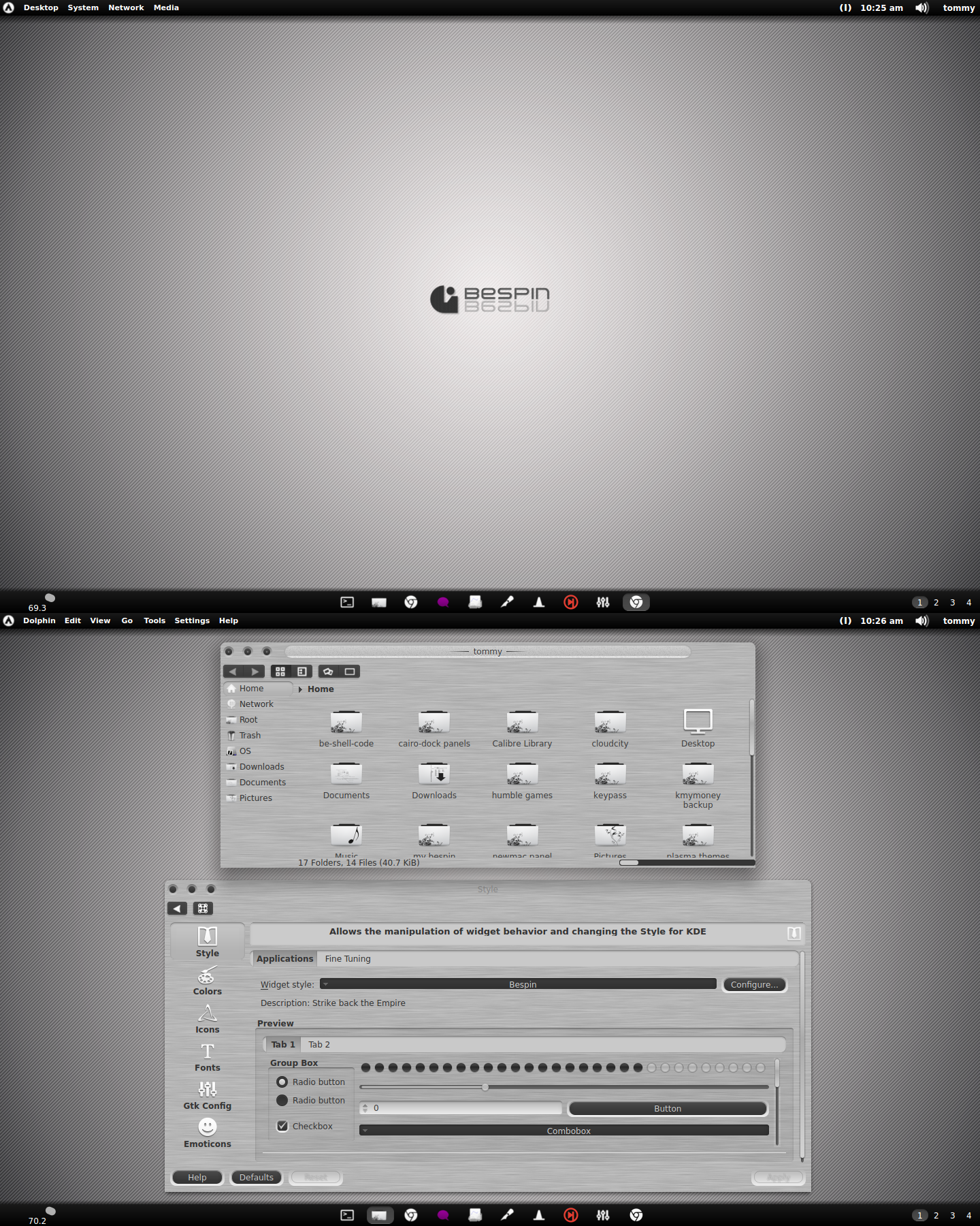 Bespin Metalized Grey with Dark Buttons Theme by CraazyT