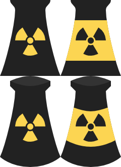 Vector Nuclear Power Plant Icons - Atomkraftwerk by qubodup