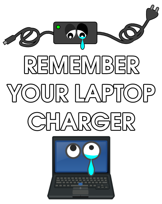how to find your laptop charger
