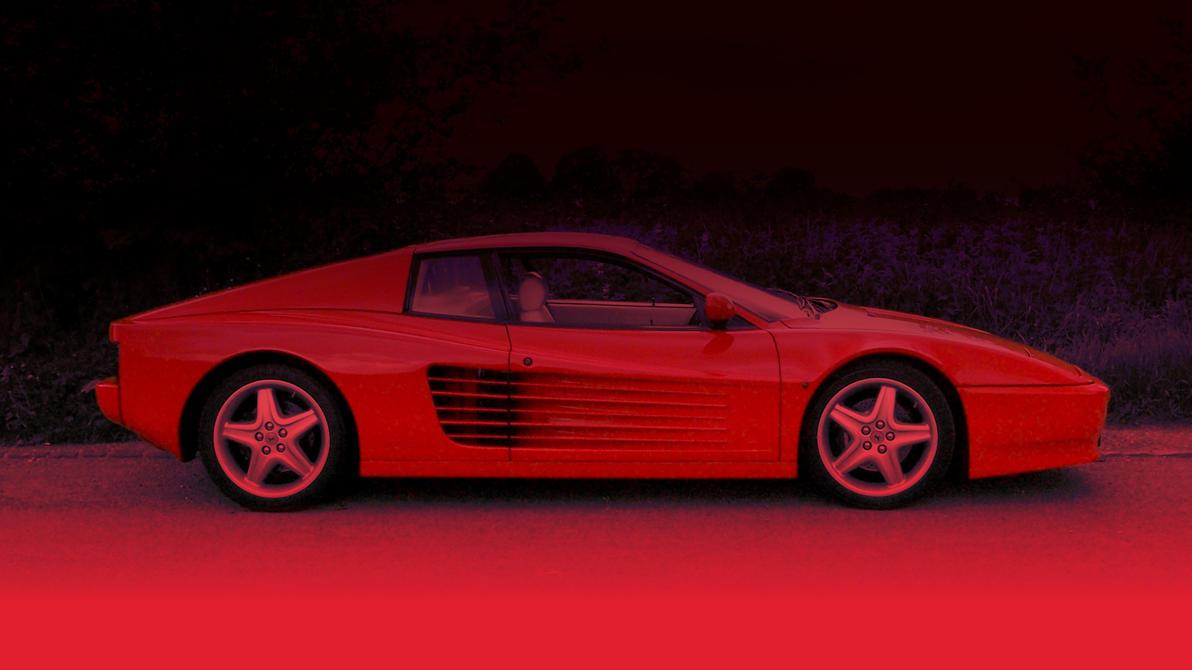 Red Ferrari Sportscar Background by qubodup
