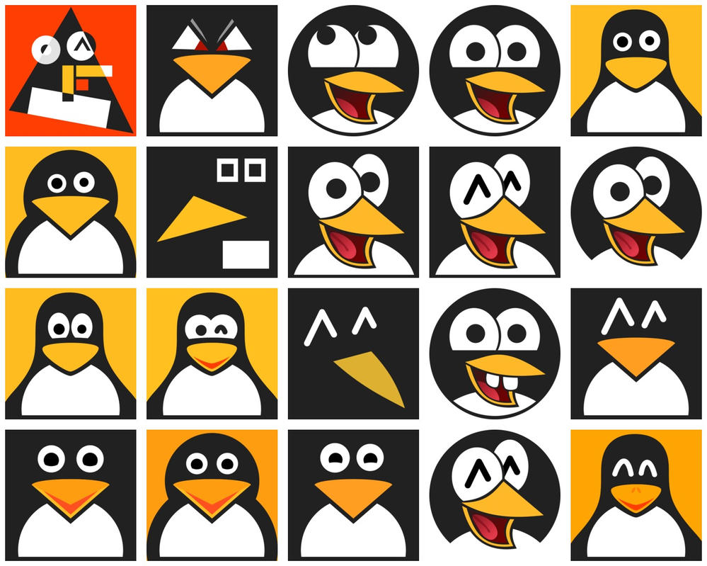 Tux Heads by qubodup