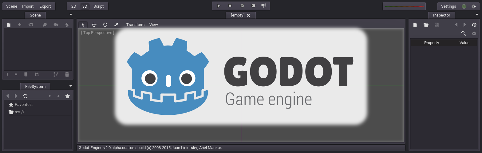 Godot Engine Facebook Group Header by qubodup