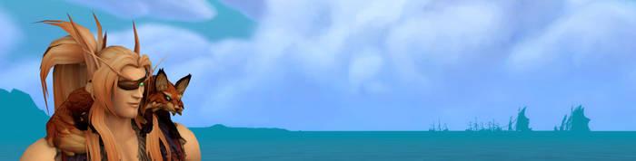 Animated banner of Sathrian and Raksha