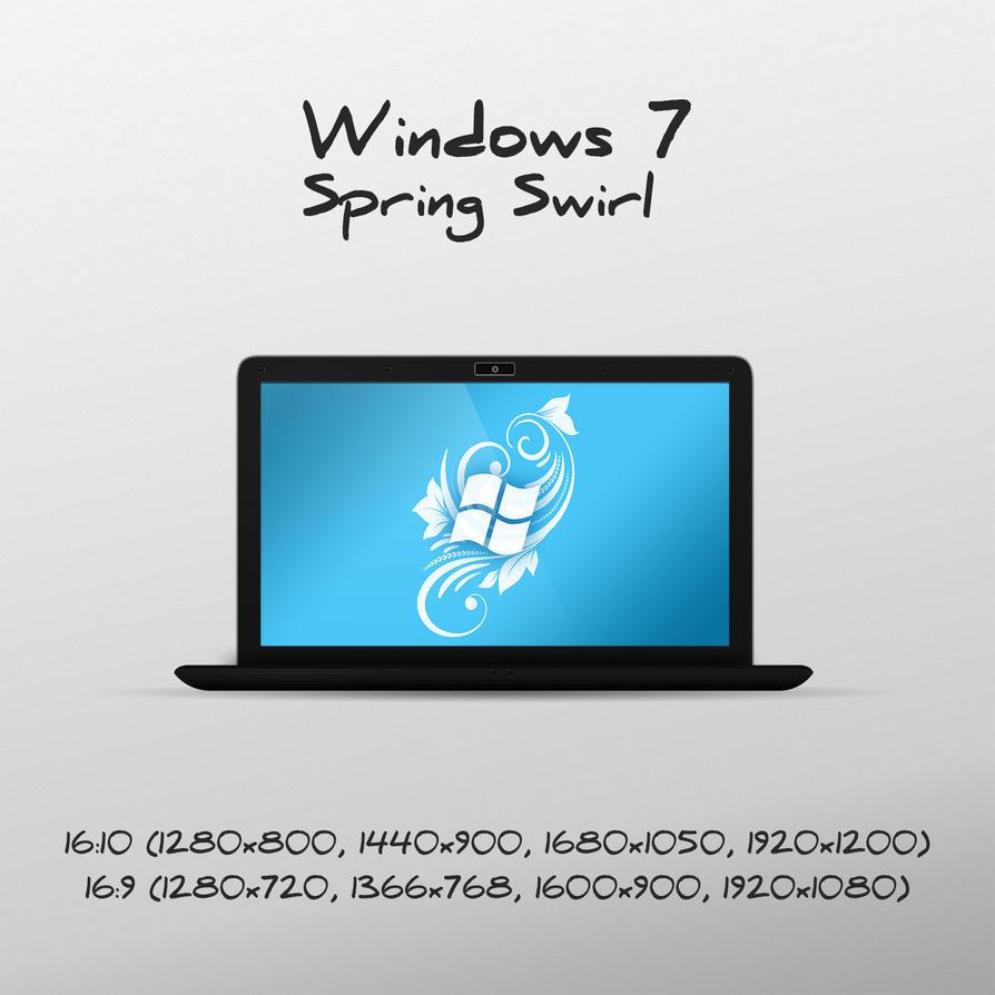 Windows 7 Spring Swirl wallpaper by luisfccorreia