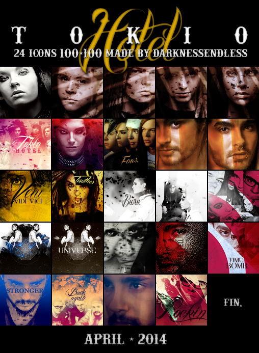24 Tokio Hotel icons by DarknessEndless