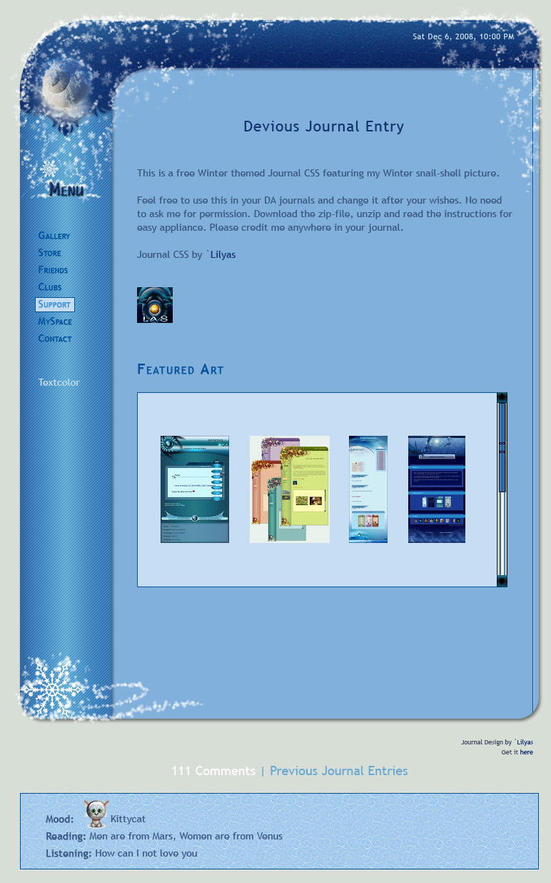 Winter CSS by Lilyas