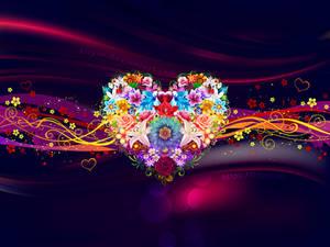 Flower Heart Wallpaper