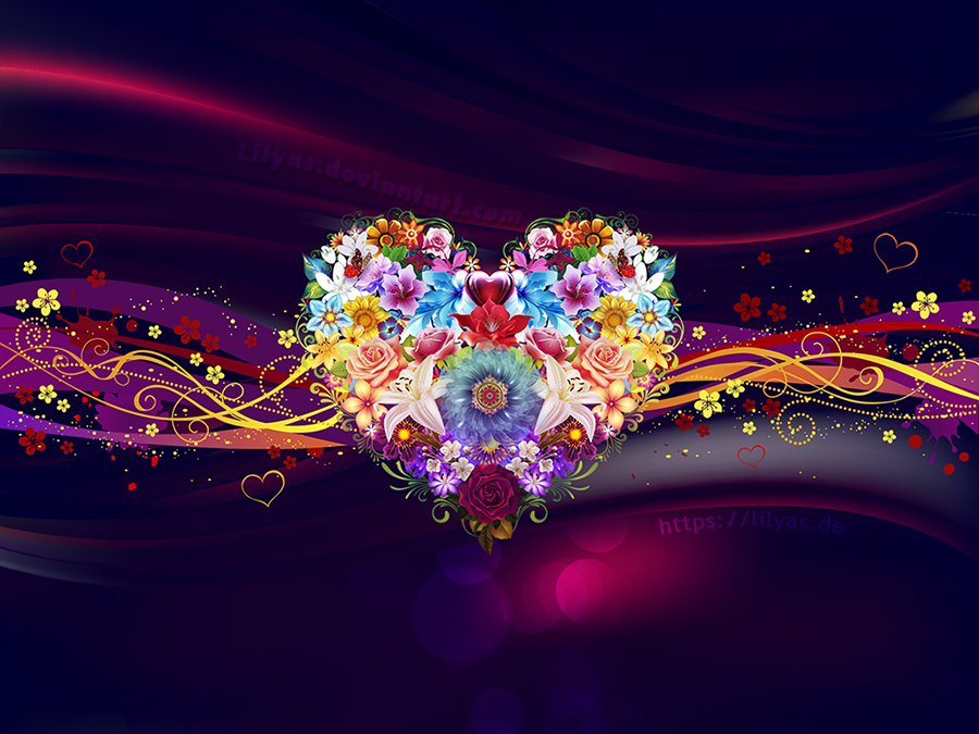 Flower Heart Wallpaper by Lilyas