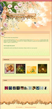Spring Fairy CSS Template