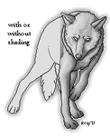 Free to use wolf pixel template