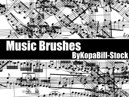 MusicBrushes by KopaBill-Stock