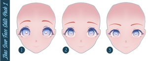 MMD DL   Ika's Sour Face Edits Pack #1