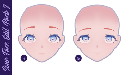 MMD DL  Ika's Sour Face Edits Pack #2