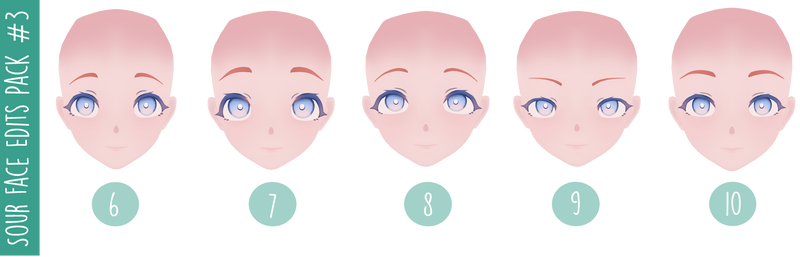 MMD DL   Ika's Sour Face Edits Pack #3