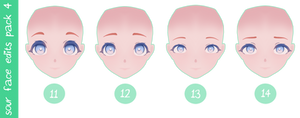 MMD DL | Ikas Sour Face Edits Pack #4