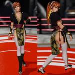 DOA6 Kasumi Sleeved Black Ninja Dress Mod