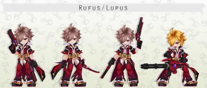 MMD Rufus/Lupus Pack + DL
