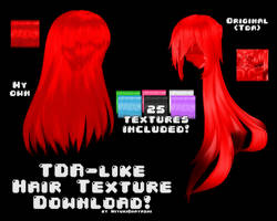 MMD Tda-like Hair Textures DL